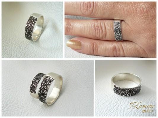 Сребърни халки с отпечатъци