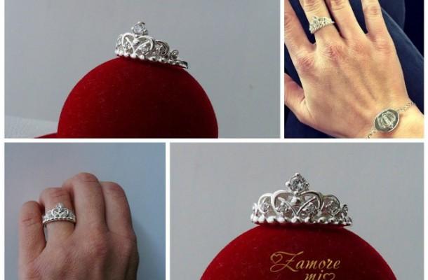 """Сребърен пръстен """"Коронка"""""""
