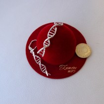 "Сребърни обеци ""ДНК"""